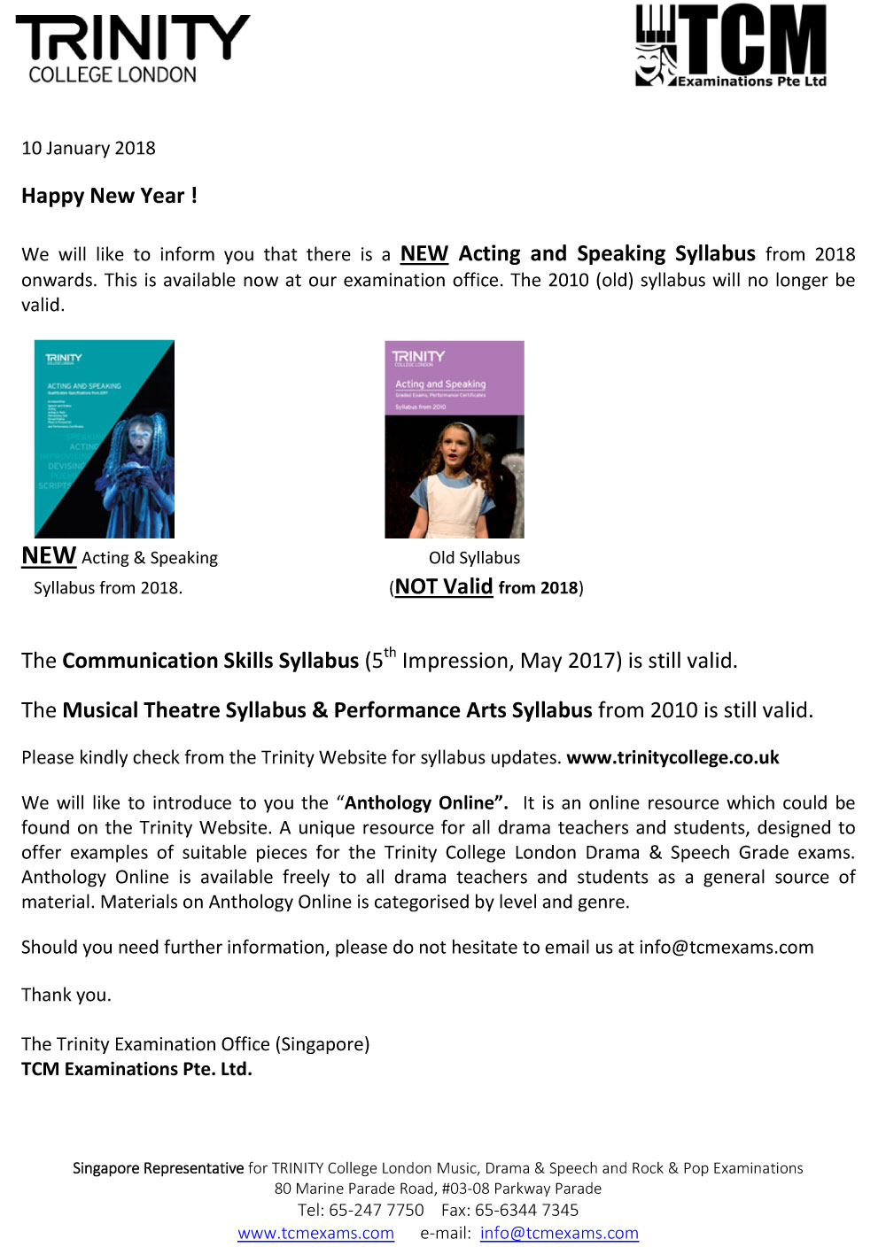 Changes Drama Syllabus Website